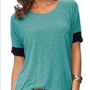 Tops - Short Sleeve Cotton Casual Top; XL